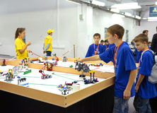 Team Russia at the robot Olympiad in Sochi Stock Photos