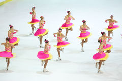 Team Russia Two dance Royalty Free Stock Photo