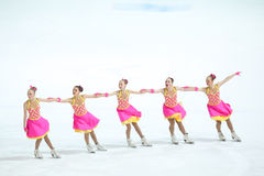 Team Russia Two i linje Arkivfoto