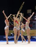 Team Russian Federation Rhythmic Gymnastics imagens de stock