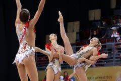 Team Russian Federation Rhythmic Gymnastics foto de stock