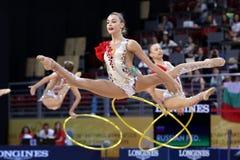 Team Russian Federation Rhythmic Gymnastics imagens de stock royalty free