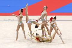 Team Russian Federation Rhythmic Gymnastics foto de stock royalty free