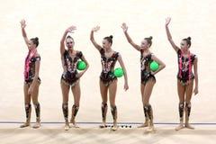 Team Russian Federation Rhythmic Gymnastics imagem de stock royalty free