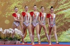 Team Russian Federation Rhythmic Gymnastics royalty free stock photography