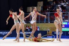 Team Russian Federation Rhythmic Gymnastics stock images