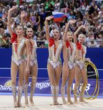 Team Russian Federation Rhythmic Gymnastics stock photos
