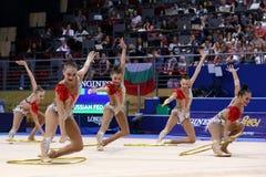 Team Russian Federation Rhythmic Gymnastics royalty free stock image