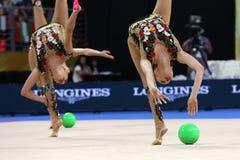 Team Russian Federation Rhythmic Gymnastics royalty free stock images
