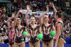Team Russian Federation Rhythmic Gymnastics royalty free stock photos
