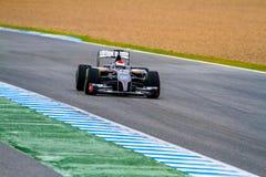 Team Sauber F1, Adrian Sutil, 2014 Lizenzfreies Stockfoto