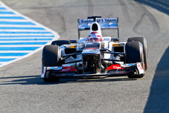 Team Sauber F1, Kamui Kobayashi, 2012 Royalty Free Stock Images