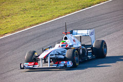 Team Sauber F1, Sergio Perez, 2011 Royalty Free Stock Photos