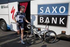 Team Saxobank Jens-Voigt Lizenzfreies Stockfoto