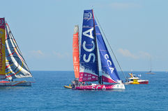 Team SCA All Woman Female Ladies Sailing Yacht Racing Crew Stock Photography