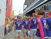 Team SCA - Sailing yachting Female Sportswomen Sailors Royalty Free Stock Images