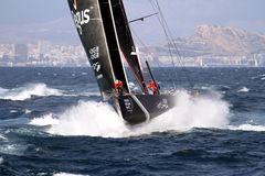 Team SCALLYWAG in ras na verlof de haven van Alicante Royalty-vrije Stock Foto's