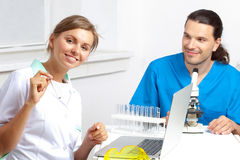 Team of scientific research laboratory Royalty Free Stock Image