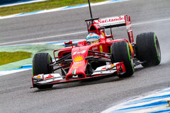 Team Scuderia Ferrari F1, Fernando Alonso, 2014 Photographie stock libre de droits