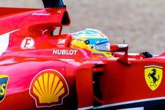Team Scuderia Ferrari F1, Fernando Alonso, 2014 Immagine Stock Libera da Diritti