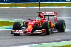 Team Scuderia Ferrari F1, Fernando Alonso, 2014 Arkivbild