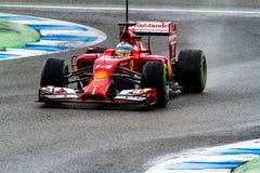 Team Scuderia Ferrari F1, Fernando Alonso, 2014 lizenzfreies stockbild