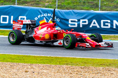 Team Scuderia Ferrari F1, Fernando Alonso, 2014 Stock Photos