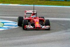 Team Scuderia Ferrari F1, Fernando Alonso, 2014 Stock Image