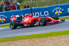 Team Scuderia Ferrari F1, Fernando Alonso, 2014 Royalty Free Stock Photos