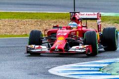 Team Scuderia Ferrari F1, Fernando Alonso, 2014 Royalty Free Stock Photos
