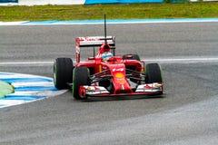 Team Scuderia Ferrari F1, Fernando Alonso, 2014 Royalty Free Stock Image