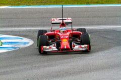 Team Scuderia Ferrari F1, Fernando Alonso, 2014 Stock Photography