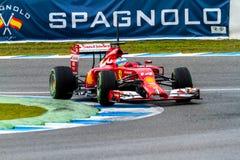 Team Scuderia Ferrari F1, Fernando Alonso, 2014 Royalty Free Stock Photography