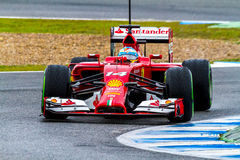 Team Scuderia Ferrari F1, Fernando Alonso, 2014 Stock Photography