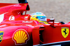 Team Scuderia Ferrari F1, Fernando Alonso, 2014 Royalty Free Stock Image
