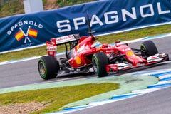 Team Scuderia Ferrari F1, Fernando Alonso, 2014 Royalty Free Stock Images