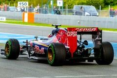 Team Scuderia Toro Rosso F1, Carlos Sainz, 2015 lizenzfreie stockfotos