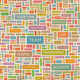 TEAM. Seamless pattern. Concept related words in tag cloud. Conceptual info-text graphic. Word collage Royalty Free Stock Photography