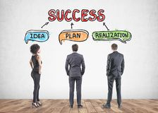Team searching for success in business and life Royalty Free Stock Images