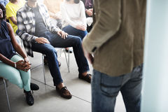 Team Seminar Listening Corporate Conference-Concept royalty-vrije stock foto
