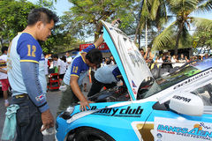 Team service on race in thailand super series Royalty Free Stock Images