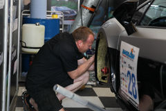 Team service on race in thailand super series Stock Images