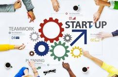 Team Share Support Trust Help-het Concept van de Groepswerksamenhorigheid Stock Foto
