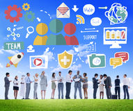 Team Share Support Trust Help Teamwork Togetherness Concept.  Royalty Free Stock Photography