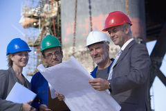 A team of shipping engineers Stock Photos