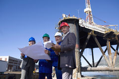 A team of shipping engineers royalty free stock photography