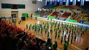 Team Show am Studentenfestival des Wettbewerbs mit großem suppor Stockbild