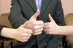Team show thumb up Royalty Free Stock Photography