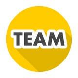 Team Sign mit langem Schatten Stockbild