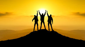 Team. Silhouette. Sport and active life concept Royalty Free Stock Image